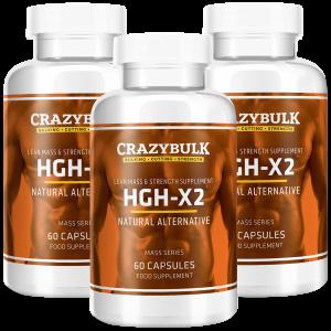 3 botellas de HGH-X2