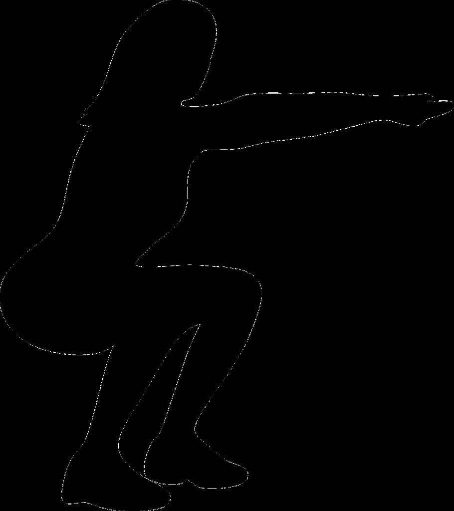 Postura de una sentadilla sin mancuernas